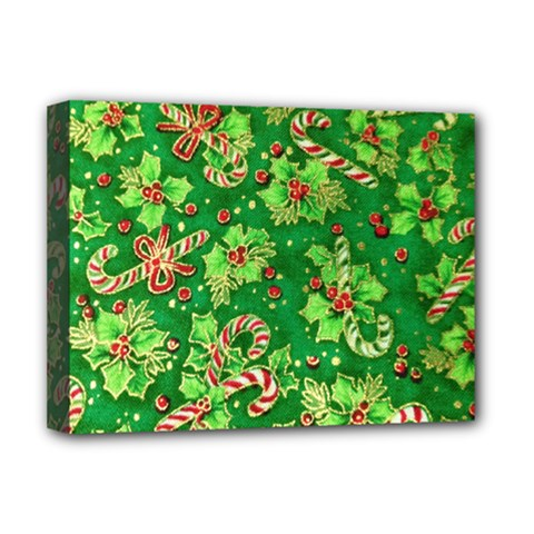Green Holly Deluxe Canvas 16  x 12