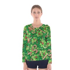 Green Holly Women s Long Sleeve Tee