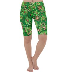 Green Holly Cropped Leggings