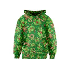 Green Holly Kids  Pullover Hoodie