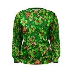 Green Holly Women s Sweatshirt
