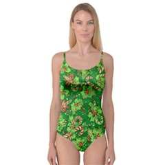 Green Holly Camisole Leotard