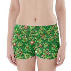 Green Holly Boyleg Bikini Wrap Bottoms