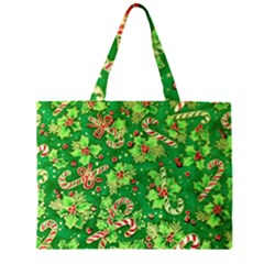 Green Holly Large Tote Bag