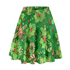 Green Holly High Waist Skirt