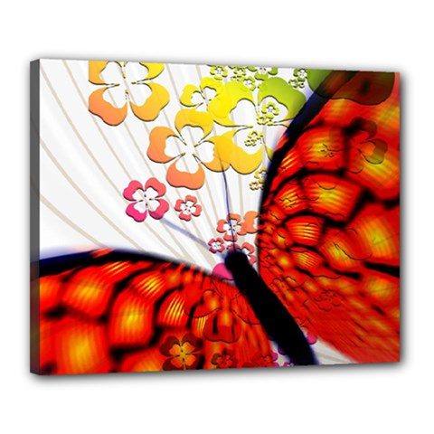 Greeting Card Butterfly Kringel Canvas 20  x 16