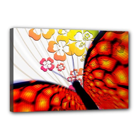 Greeting Card Butterfly Kringel Canvas 18  x 12
