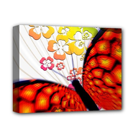 Greeting Card Butterfly Kringel Deluxe Canvas 14  x 11
