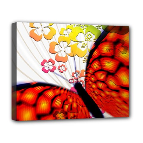 Greeting Card Butterfly Kringel Deluxe Canvas 20  X 16