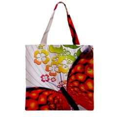 Greeting Card Butterfly Kringel Zipper Grocery Tote Bag