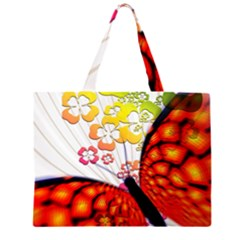 Greeting Card Butterfly Kringel Large Tote Bag