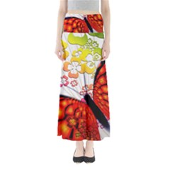 Greeting Card Butterfly Kringel Maxi Skirts