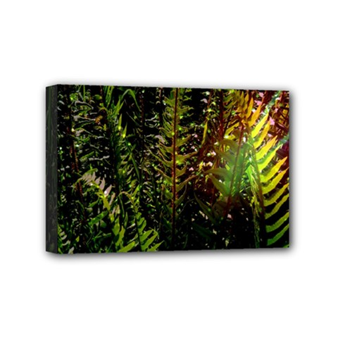 Green Leaves Psychedelic Paint Mini Canvas 6  X 4