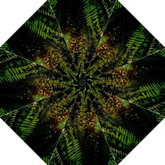 Green Leaves Psychedelic Paint Hook Handle Umbrellas (Large)