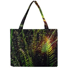 Green Leaves Psychedelic Paint Mini Tote Bag