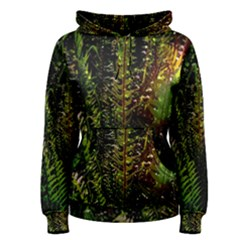 Green Leaves Psychedelic Paint Women s Pullover Hoodie