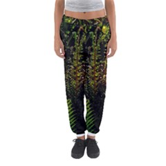 Green Leaves Psychedelic Paint Women s Jogger Sweatpants