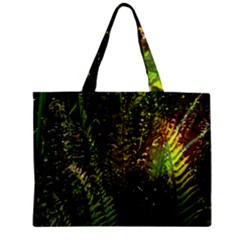 Green Leaves Psychedelic Paint Zipper Mini Tote Bag