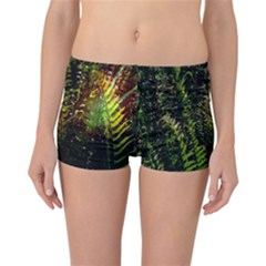 Green Leaves Psychedelic Paint Reversible Bikini Bottoms