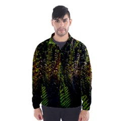 Green Leaves Psychedelic Paint Wind Breaker (men)