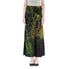 Green Leaves Psychedelic Paint Maxi Skirts
