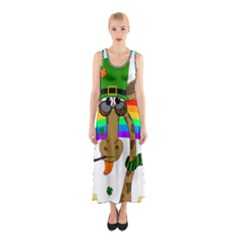 Irish Giraffe Sleeveless Maxi Dress
