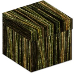 Green And Brown Bamboo Trees Storage Stool 12