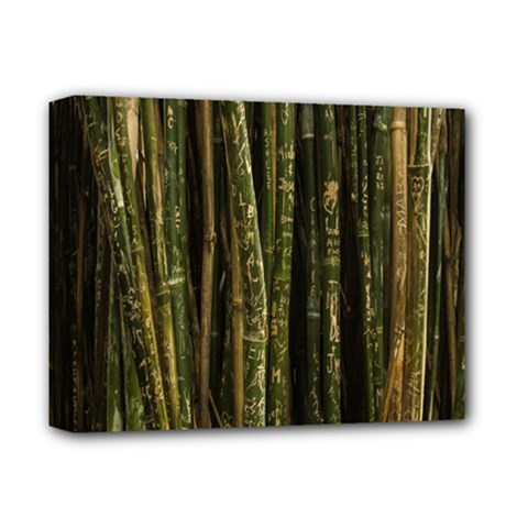 Green And Brown Bamboo Trees Deluxe Canvas 14  X 11