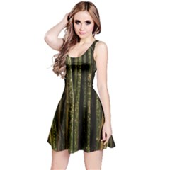Green And Brown Bamboo Trees Reversible Sleeveless Dress