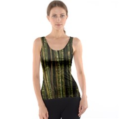 Green And Brown Bamboo Trees Tank Top