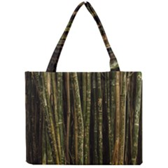 Green And Brown Bamboo Trees Mini Tote Bag