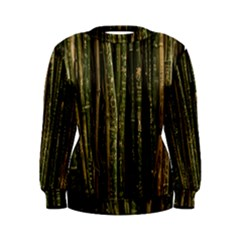 Green And Brown Bamboo Trees Women s Sweatshirt