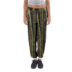 Green And Brown Bamboo Trees Women s Jogger Sweatpants