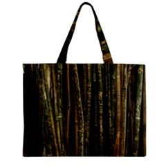 Green And Brown Bamboo Trees Zipper Mini Tote Bag