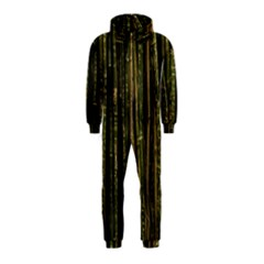 Green And Brown Bamboo Trees Hooded Jumpsuit (Kids)