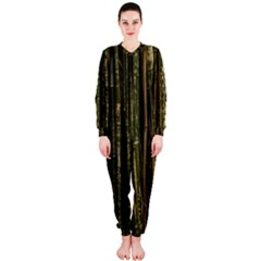 Green And Brown Bamboo Trees Onepiece Jumpsuit (ladies)