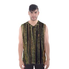 Green And Brown Bamboo Trees Men s Basketball Tank Top