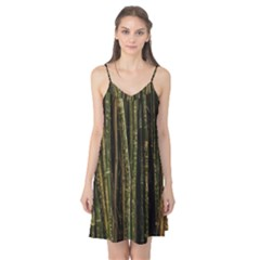 Green And Brown Bamboo Trees Camis Nightgown