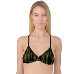 Green And Brown Bamboo Trees Reversible Tri Bikini Top