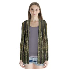Green And Brown Bamboo Trees Cardigans