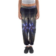 Fractal Blue Abstract Fractal Art Women s Jogger Sweatpants