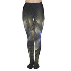 Fractal Blue Abstract Fractal Art Women s Tights