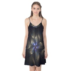 Fractal Blue Abstract Fractal Art Camis Nightgown
