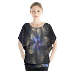 Fractal Blue Abstract Fractal Art Blouse