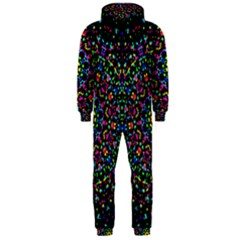 Fractal Texture Hooded Jumpsuit (Men)