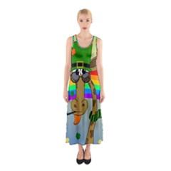 Irish Giraffe Sleeveless Maxi Dress