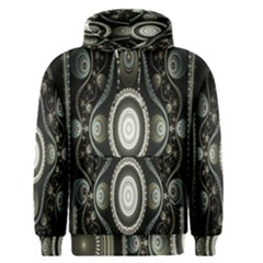 Fractal Beige Blue Abstract Men s Pullover Hoodie