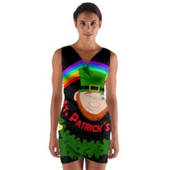 St. Patrick s day Wrap Front Bodycon Dress