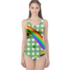 St. Patrick s day rainbow One Piece Swimsuit