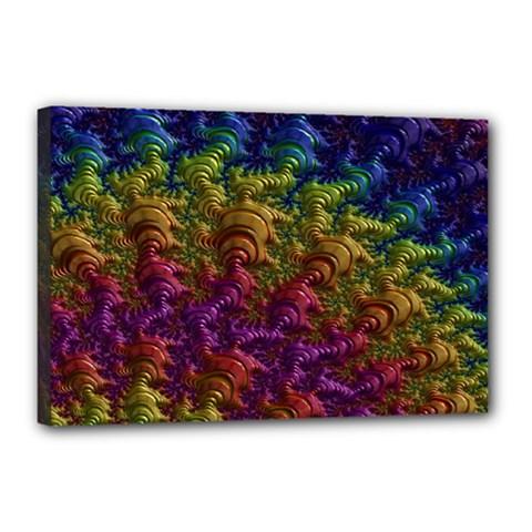 Fractal Art Design Colorful Canvas 18  x 12
